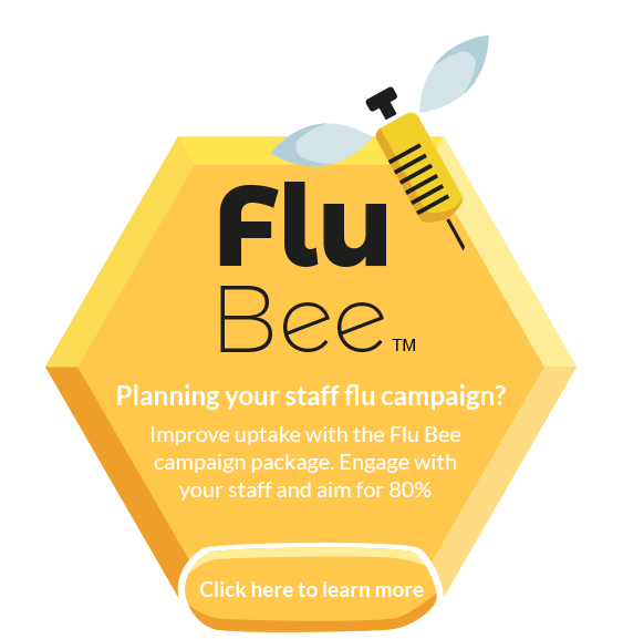 Create a buzz about flu vaccination with flu bee